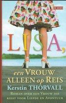 Boek cover Lisa een vrouw alleen op reis van Kerstin Thorvall
