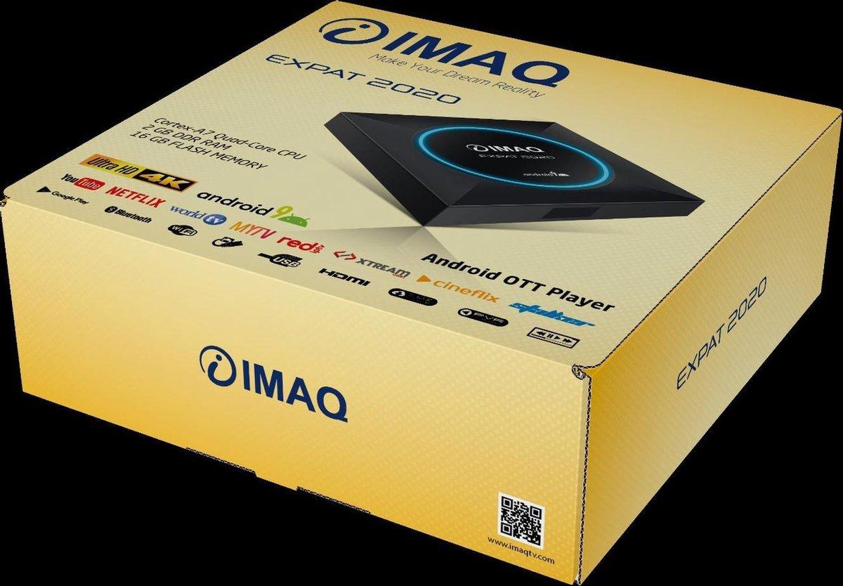 IMAQ EXPAT 2020 2GB RAM  16GB FLASH Android 9 Tv Box Smart TV BOX met 2.4G Wifi HDR 4K H.265 Media Player Set Top Box !