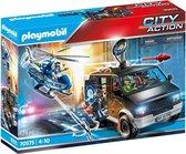 H: PLAYMOBIL City Action Politiehelikopter: achtervolging van het vluchtvoertuig - 70575 - Multicolor