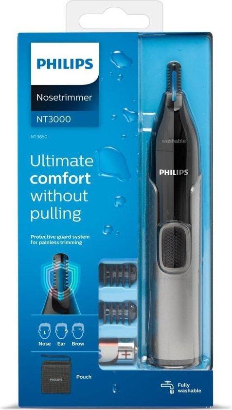 Philips Series 3000 NT3650/16 - Neus-, oor- en wenkbrauwtrimmer - Grijs