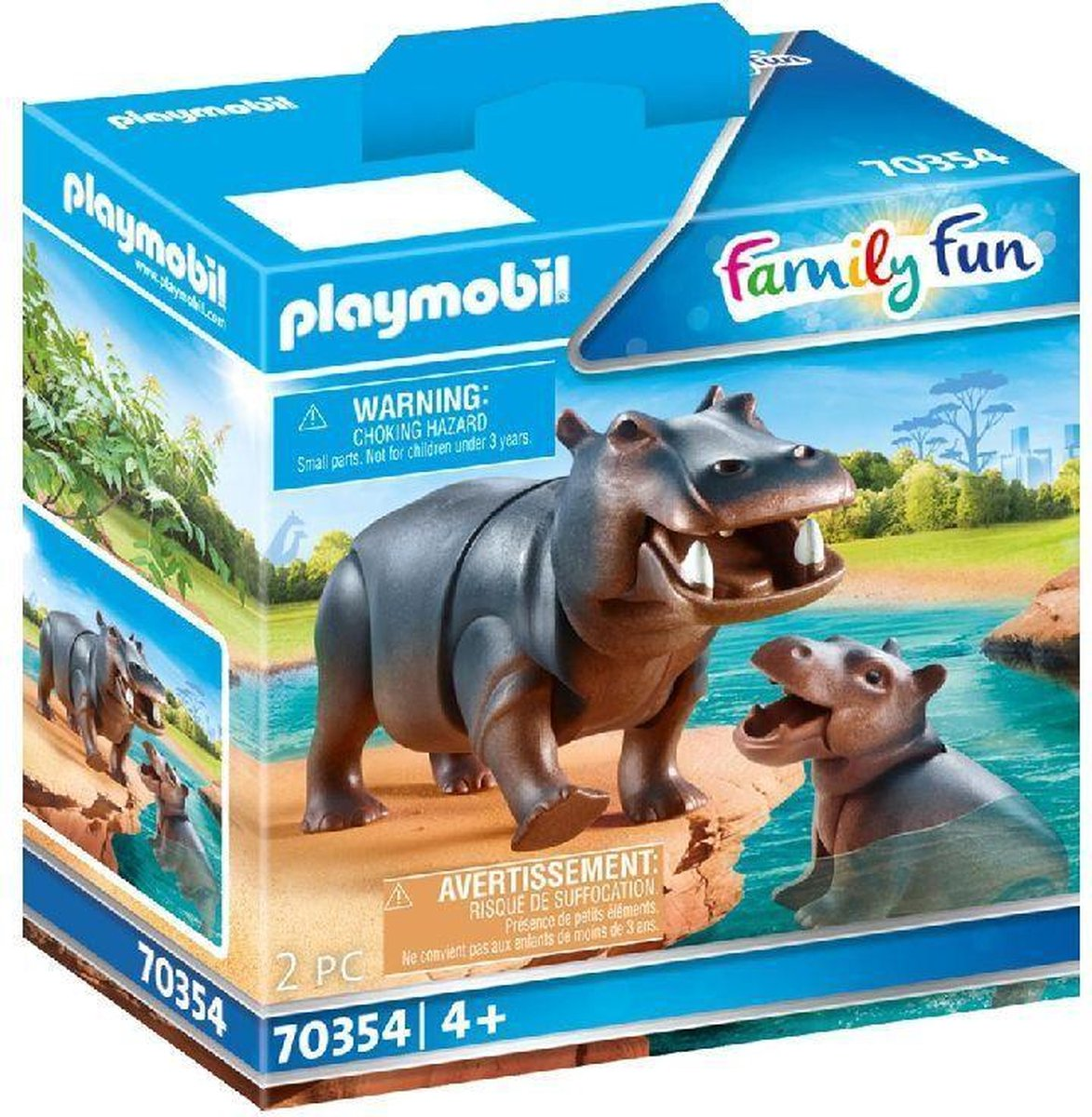 PLAYMOBIL Family Fun Nijlpaard met baby - 70354