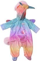 BABY born Fantasie Eenhoorn Onesie Kleur - Poppenkleding 43 cm