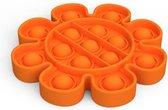 Pop It Fidget  - bloem vorm -  oranje  – tik tok trend -  Pop it fidget toy