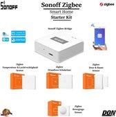 Sonoff Zigbee - 5-delige - Smart Home - Starter Kit - Sonoff Bridge + Draadloos Schakelaar + Deur & Raam Sensor + Temperatuur & Luchtvochtigheid Sensor + Bewegingssensor