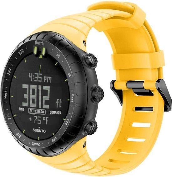 Suunto Core Horlogebandje Bandje Polsband Siliconen - Geel