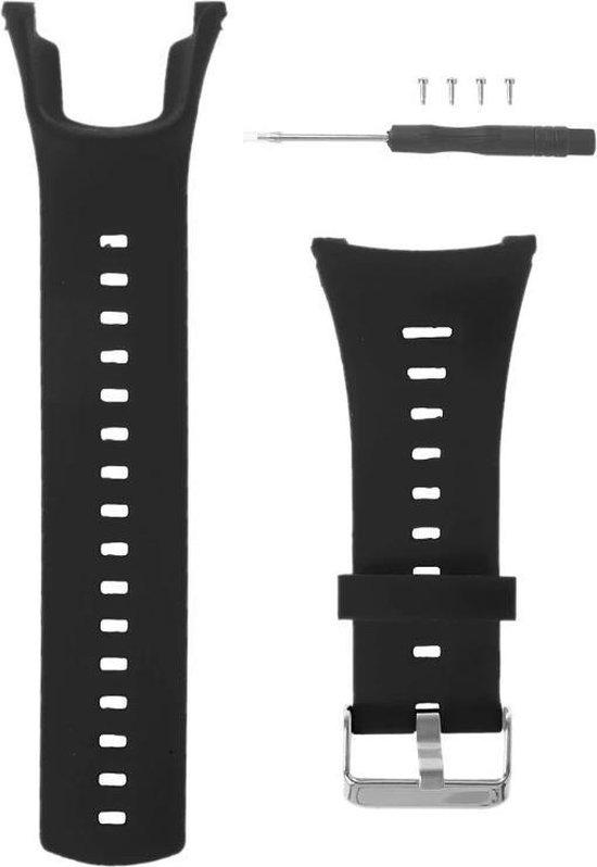 Horloge Band Voor Suunto Ambit/2/2S/3/ Run/Sport/Peak - Armband / Polsband / Strap Bandje / Sportband - Zwart