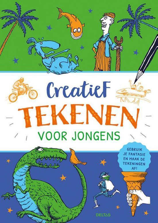 Boek cover Creatief tekenen voor jongens van  (Paperback)