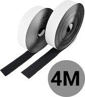 4 Meter Klittenband zelfklevend - Klittenband rol - Ultra sterk - Velcro - Zelfklevend klittenband