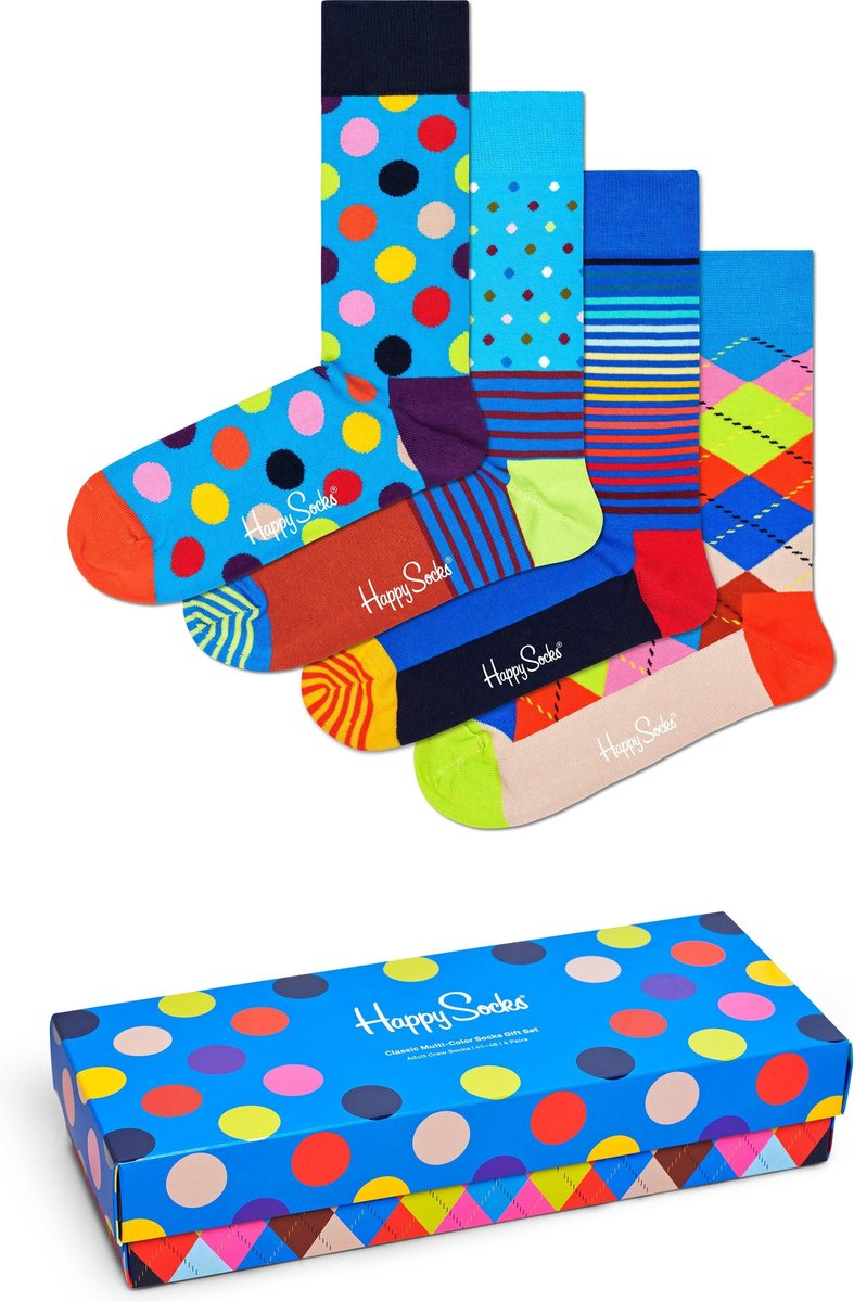 Happy Socks Classic Multi Colour Gift Box 4P - Maat 41-46
