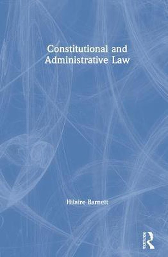 Boek cover Constitutional and Administrative Law van Hilaire Barnett (Hardcover)