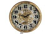 Klok Basset Gold  46cm | Wanddecoratie  | Wandklokken | Diameter 46  |