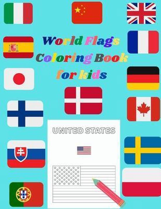 World Falgs Coloring Book For Kids