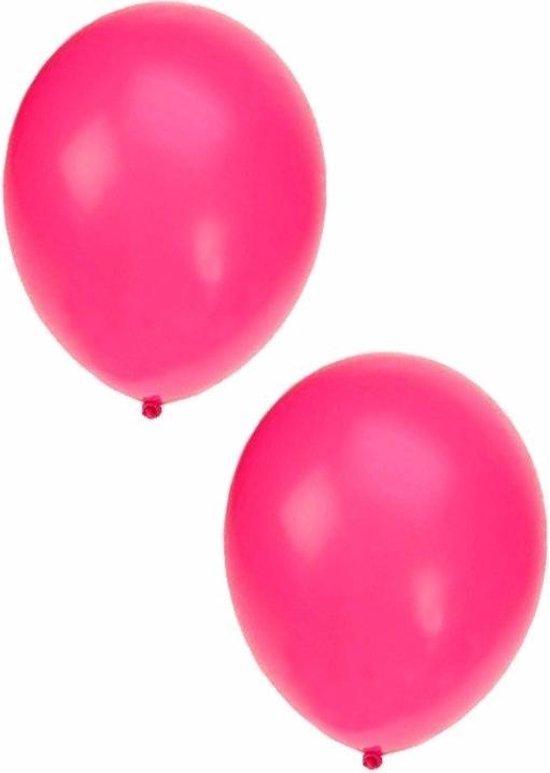 Neon roze ballonnen 50x stuks 27 cm - Feestartikelen/versieringen
