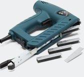 Combinatie elektrische tacker en elektrische nieter, inclusief spijkers en nietjes, elektrisch nietapparaat - Multistrobe