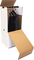 Verhuisservice+ Verhuisdoos voor Kleding - XL - Garderobedoos - Kledingdoos - Inclusief roede - Extra sterk - 102x50x50cm