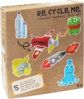 Re-cycle-me knutselpakket met plastic flessen stoer