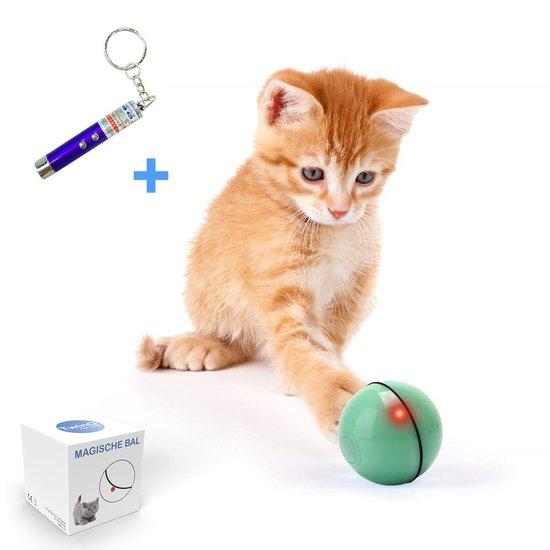 TwinQ Magische Bal Interactief Speelgoed Hond/Kat - Speelgoed Voor Dieren - USB oplaadbaar - Groen