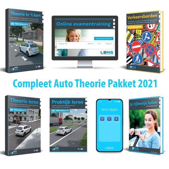 Boek cover Rijbewijs B Theorieboek 2021 - Auto Theorie Pakket voor Theorie Leren Nederland met o.a. 50 online examens, Samenvatting en Praktijkboek van Lens Verkeersleermiddelen (Voordeeleditie)