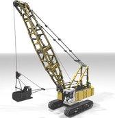 Dragline - Kraan - Graafmachine - Rupskraan - Machine - Technisch Bouwpakket - 2400 Bouwstenen- Geel - Toy Brick Lighting