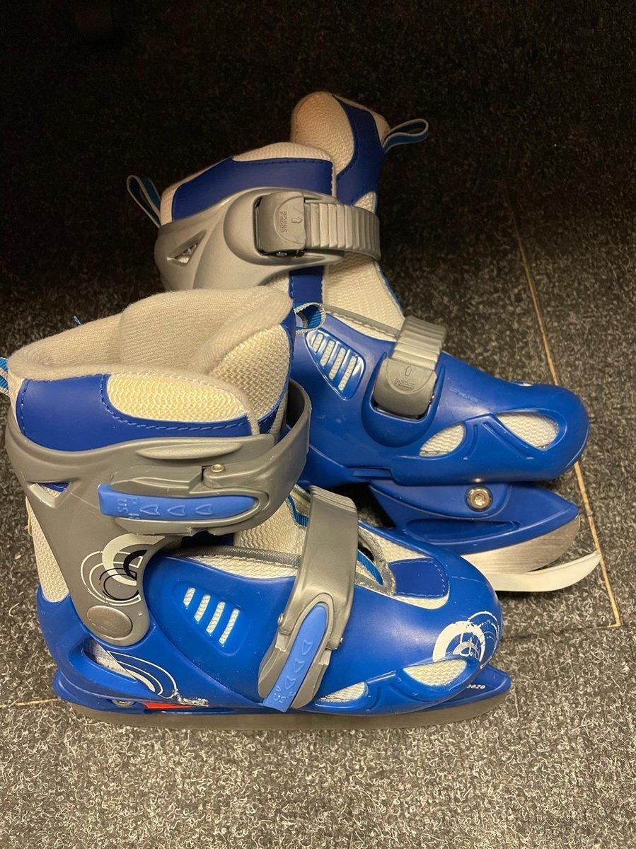 Kinderschaatsen / Schaatsen MOVE, Verstelbaar van maat 30 t/m 33, Blauw / Wit