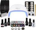 Gellak - MEANAIL® KIT deluxe - UV/Led lamp 48 watt - 3 kleuren gelnagellak