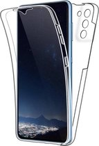 Samsung S21 Hoesje en Screenprotector in 1 - Samsung Galaxy S21 Case 360 graden Transparant