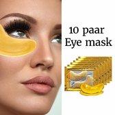 Collageen oogmasker - Crystal Collagen Gold Powder - Wallen wegwerken - Verhelpt wallen en donkere kringen onder de ogen- Hydraterend - 20st - 10 paar