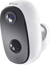 Outdoor eye Draadloze IP beveiligingscamera op accu - Werkt op app - Wifi & nachtzicht -  Voor buiten & binnen - weerbestendig - nu met GRATIS SD kaart & anti-diefstal beugel