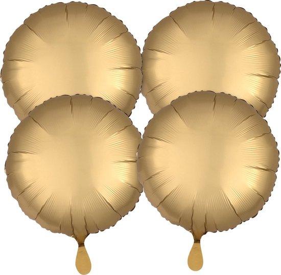 Anagram Folieballonnen 43 Cm Goud 4 Stuks