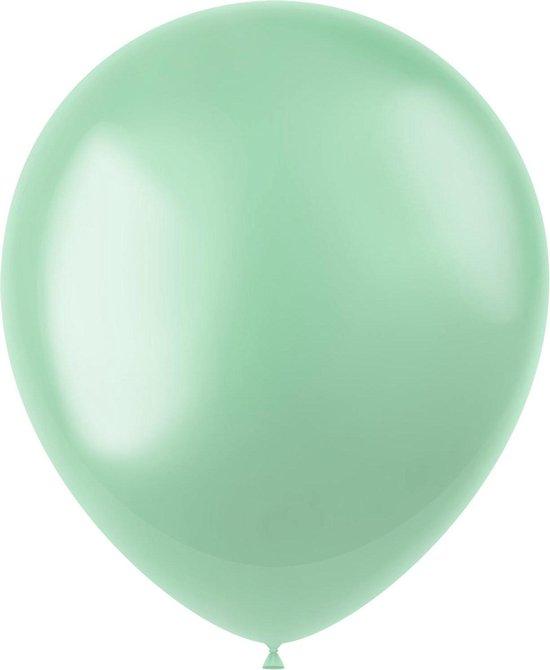 Mintgroene Ballonnen Metallic Minty Green 33cm 50st