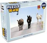 Puzzel 500 stukjes Ezels - Ezels op de weg  - PuzzleWow heeft +100000 puzzels