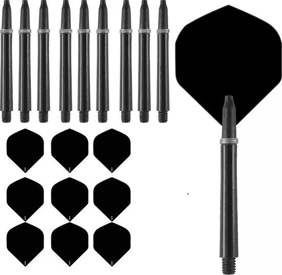 Afbeelding van het spel R4X flights zwart en shafts medium zwart 3 sets
