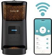 PetHero Smart WiFi Automatische Voerbak Zwart - Voerautomaat voor kat of hond met smartphone besturing - Voerinhoud 6 liter