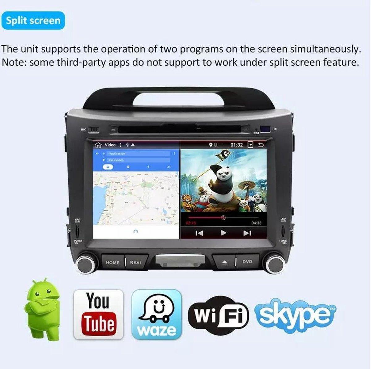 GRATIS CAMERA! Kia Sportage 2010-2015 2+32GB Android 10 navigatie DVD speler Bluetooth USB WiFi