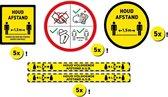20 STUKS HOUD 1,5m AFSTAND STICKERS VOORDEELPAKKET - Corona sticker  - Corona Vloerstickers - Ø 20/30cm - Waarschuwingsstickers - Antislip - Covid-19 Sticker - Stickers corona (GRATIS VERZENDING)