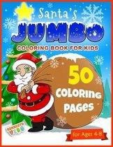 Santa's Jumbo Coloring Book for Kids