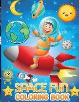 space fun coloring book