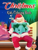 Christmas Kids Coloring Book Ages 4-8