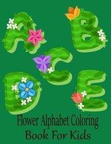 Flower Alphabet Coloring Book For Kids