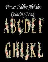 Flower Toddler Alphabet Coloring Book
