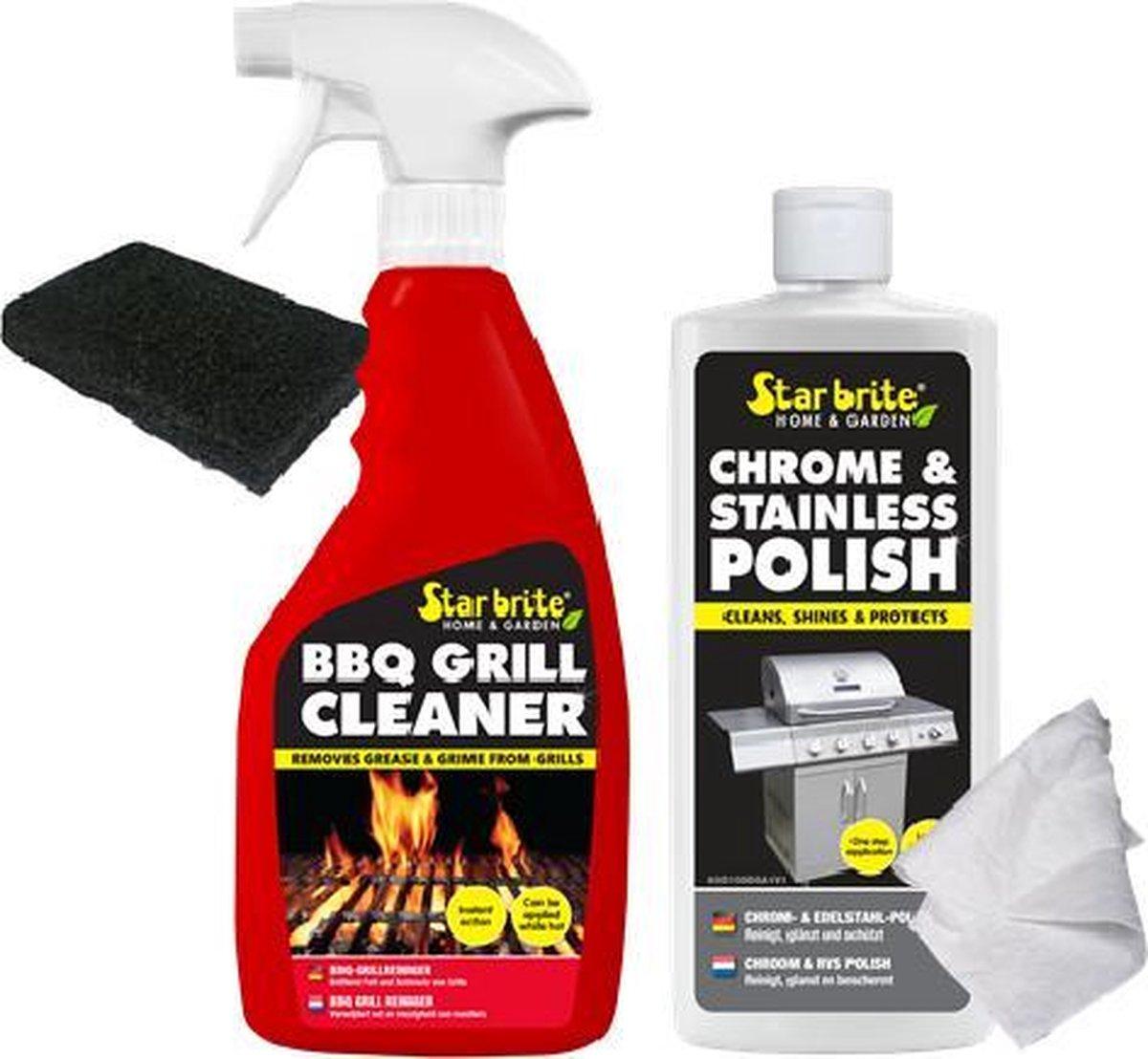 Starbrite BBQ Barbecue / Grill Reiniger | Premium SET 4-delig