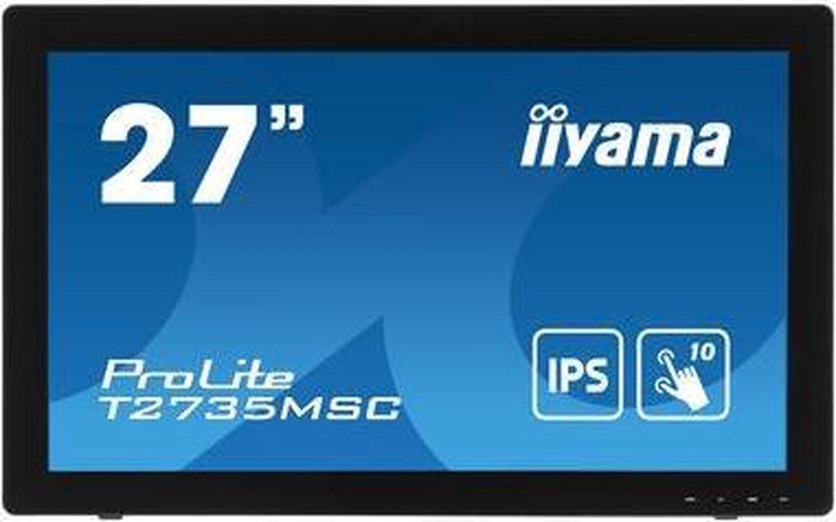 iiyama ProLite T2735MSC-B3 touch screen-monitor 68,6 cm (27) 1920 x 1080 Pixels Multi-touch Zwart