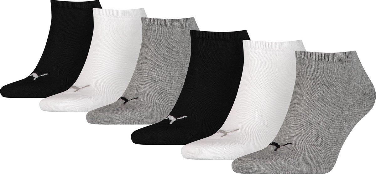 PUMA  PLAIN Sneakersokken Unisex 6P- Maat 43-46