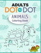 Adults Dot to Dot Animals Coloring Book