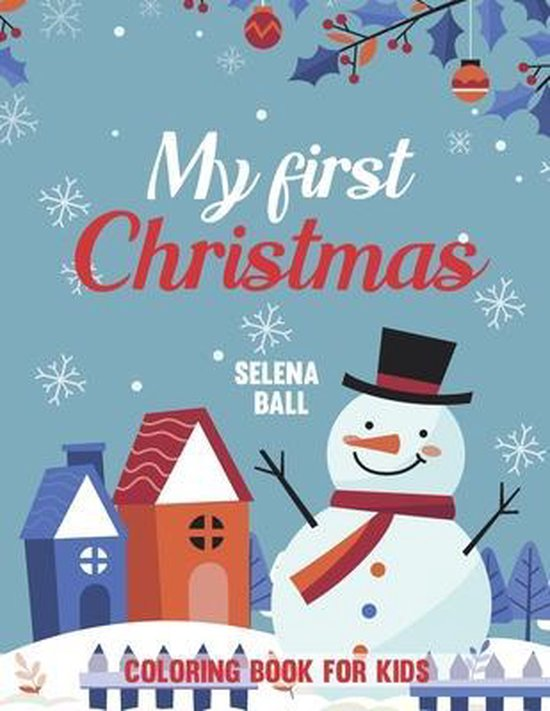 My First Christmas Coloring Book For Kids