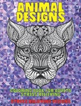 Coloring Book for Adults Stress Relieving Animal Designs - Stress Relieving Designs