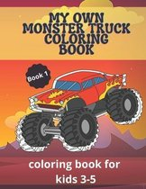 My Own Monster Truck Coloring Book