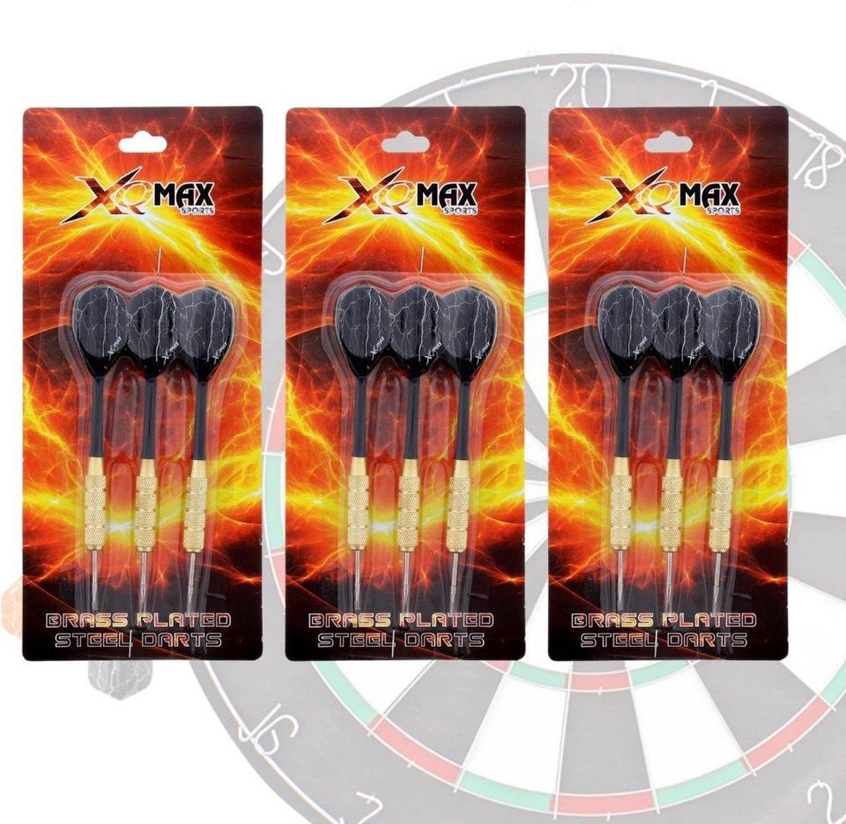 XQMax SPORT - 9 Stevige Complete Dartpijlen - Darts Accessoires - Dartset - Dartpijlen - Darts Pijlen - Darts Flights - Darten - PROFESSIONEEL - 9 Pijlen