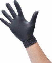 50x Wegwerphandschoenen - Nitrile - Zwart - Gloves - Poedervrij - Latex vrij - Maat L (Large) - Handschoenen wegwerp