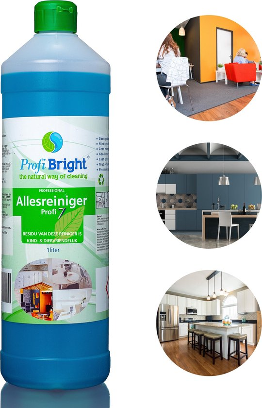 ProfiBright Consument - Allesreiniger Profi7 - Interieurreiniger - Concentraat - Fris van geur - Navul - Dierproefvrij -  liter